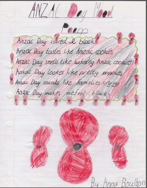 Anna Boulton Anzac poem