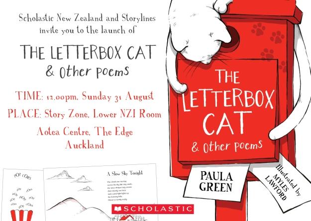 Letterbox Cat invite