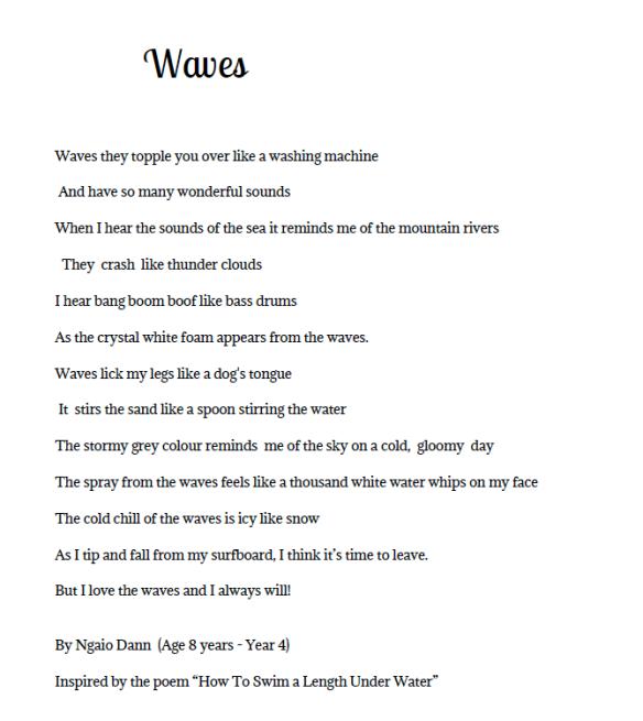 Swimming Poems 3