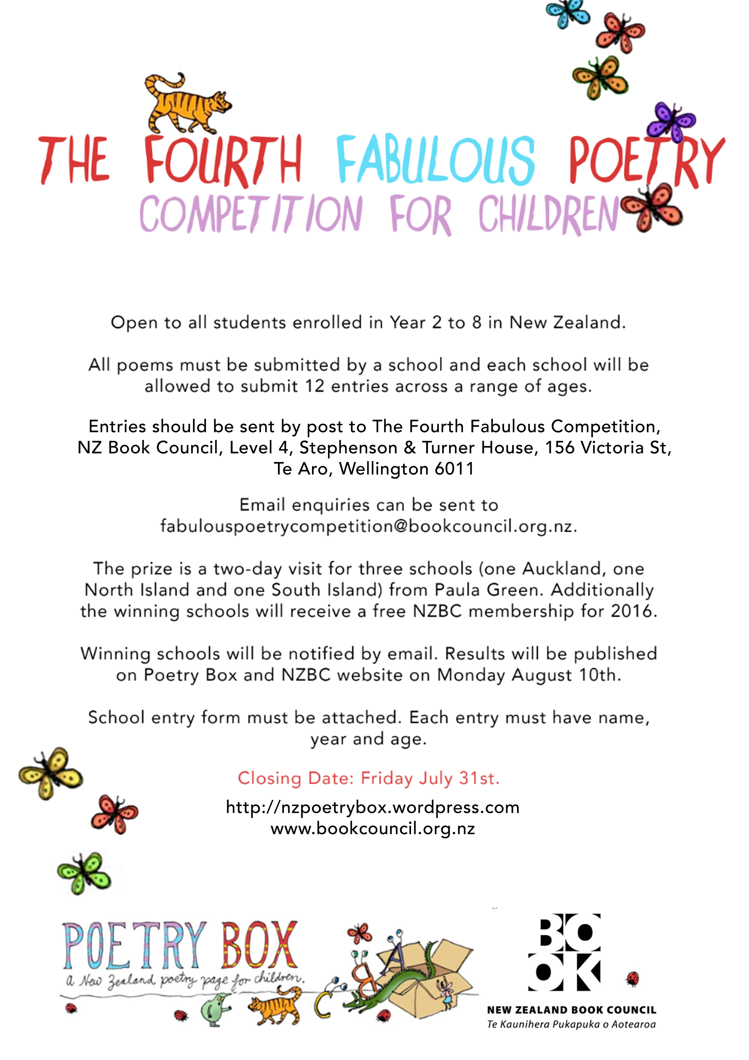 Still time for schools to enter The Fourth Fabulous Poetry ...