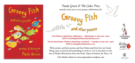 Poetry Box July challenge: recycling my Groovy Fish titles